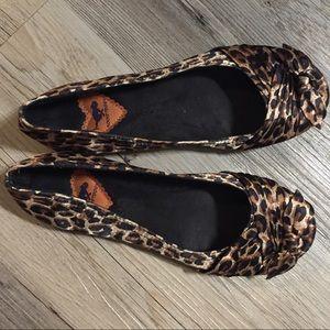 Rocket Dog Leopard Print Flats Size 7